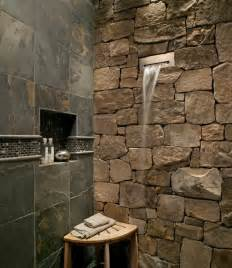 river rock shower floor bathroom ideas androidtop cool pinterest