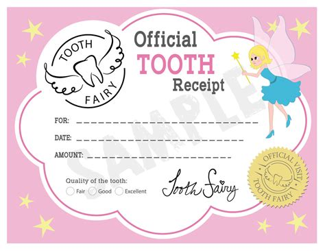 tooth certificate template tooth booth