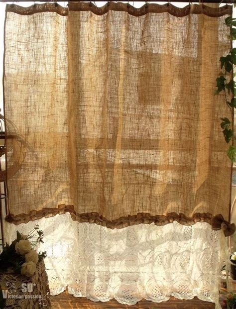 burlap ruffle curtains best 25 burlap shower curtains ideas on pinterest