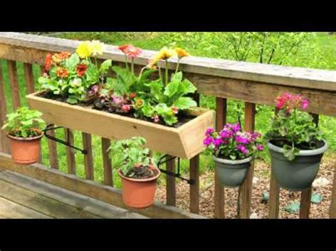 deck railing planter boxes along fence new decoration