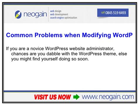 wordpress layout problem common problems when modifying wordpress themes faq part 1