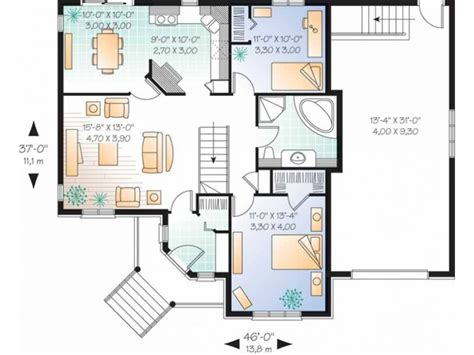 level house plans story 3 bedroom with staircase 2 bedroom single story
