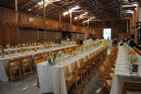 Wedding Reception by Casual Wedding Reception On The Farm Branching Out