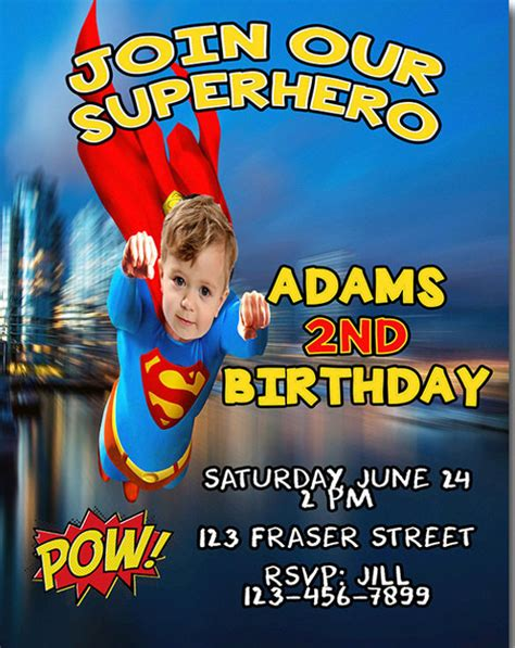 superman birthday card template 19 birthday invitations free psd vector eps
