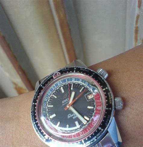 Jam Antik Enicar Sherpa jam tangan kuno enicar sherpa guide gmt