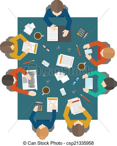 Top 10 Graphic Of There A Meeting In My Bedroom Dorothy | clipart vector of business meeting in top view flat