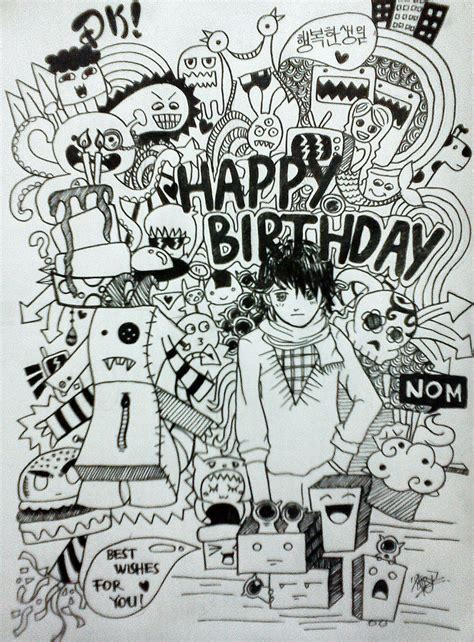 doodle happy birthday simple doodle happy birthday by aivvia on deviantart