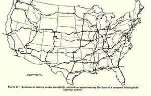 map of us toll highways the next american system op ed 1808 1908 2008