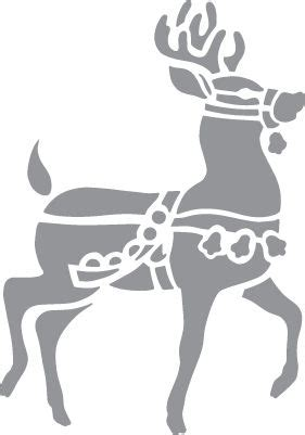 animal silhouette stencil reindeer silhouette stencil glass etching stencil of christmas reindeer in category