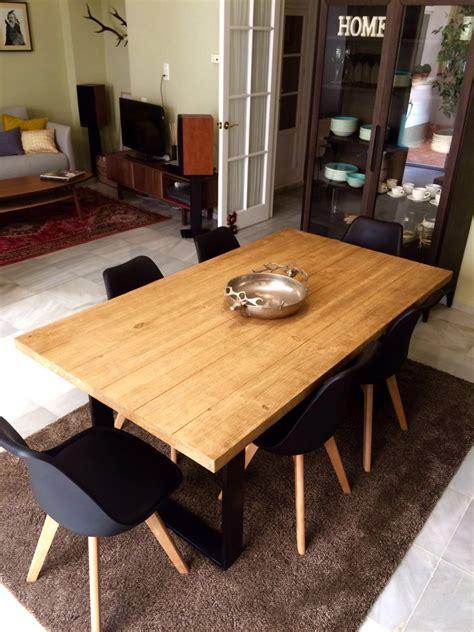 mesa de comedor industrial muebles rusticos  medida