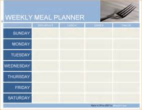 4 daily meal planner template ganttchart template