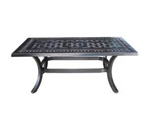 Aluminum Coffee Table Aluminum Rectangular Coffee Table Patio At Sun Country