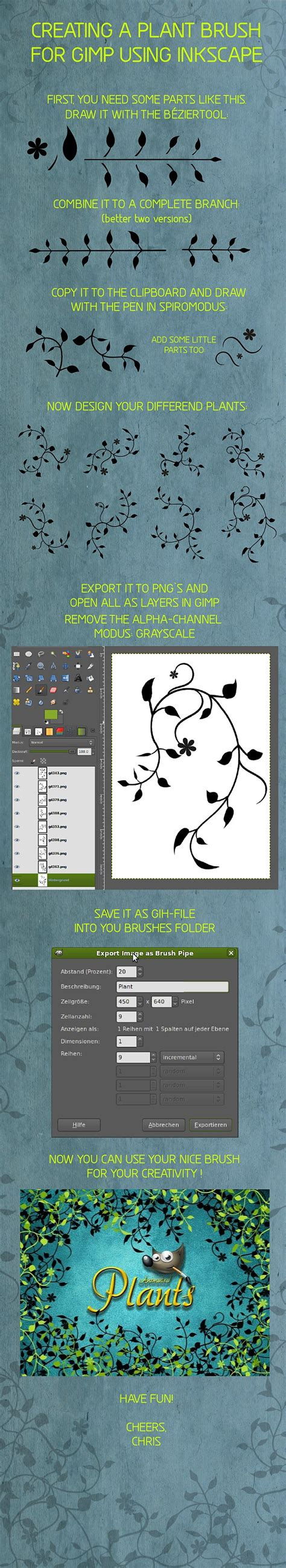 pattern brush gimp from inkscape to gimp brush tutorial 171 chrisdesign blog