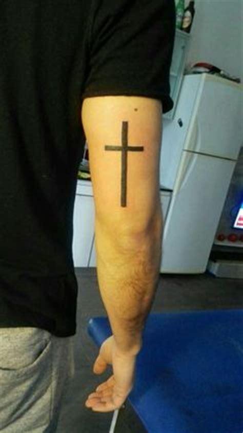 cross tattoo tricep mens bible verse tattoos on ribs proverbs 3 5 6 trust in