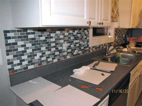 easy diy glass tile backsplash home