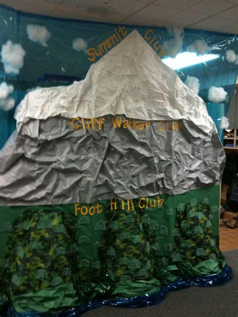 mountain built  show progress  kids  class