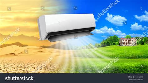 comfortable life air conditioner comfortable life stock photo 116572072