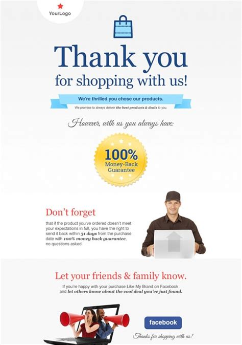 thank you page templates by getresponse