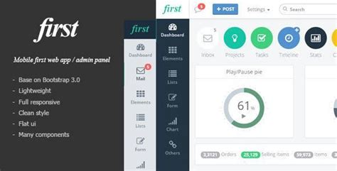 sahifa theme mobile view 21 best web admin dashboard templates design webdesignboom
