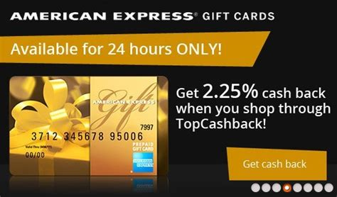 How To Cash Out American Express Gift Card - top cashback sale 2 25 back on amex gift cards for 24 hrs