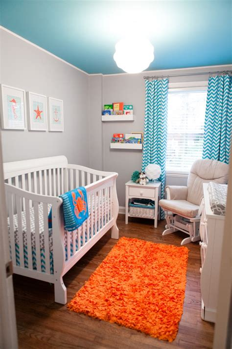 Carter S Turquoise Orange Nursery Project Nursery Orange Nursery Decor