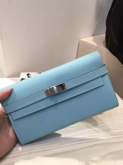 Blackkelly Bag Lsc 787 sale hermes lagon blue epsom leather wallet clutch bag hermes crocodile birkin bag