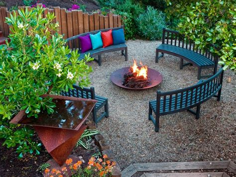 backyard ideas with fire pits fire pit ideas hgtv