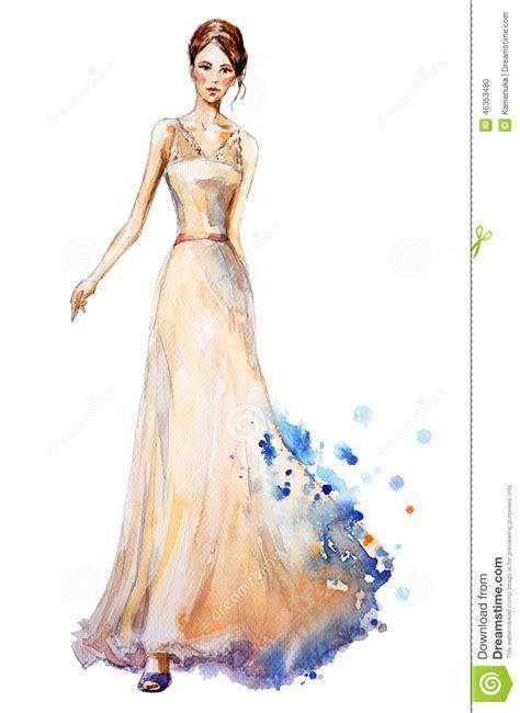 fashion illustration wedding dresses watercolor fashion illustration beautiful in a dress wedding dress stock