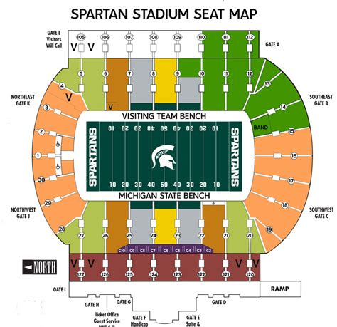 msu student section football tickets michigan basketball stadium seating chart images