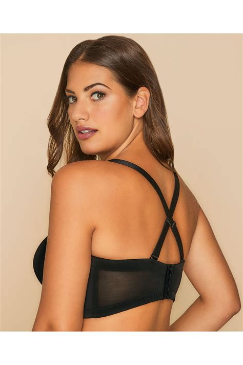 Po Address Finder Black Superfit Multiway Bra With Diamante Detail Plus Size 16 To 36