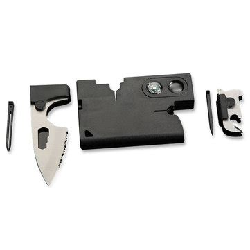 Flounder Multifunctional Tool Dengan Mini Led 10 in 1 multi tools credit card serrated knife companion tools with compass magnifying