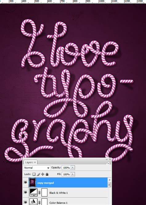 creative typography tutorial photoshop create delicious candy cane text effect in photoshop