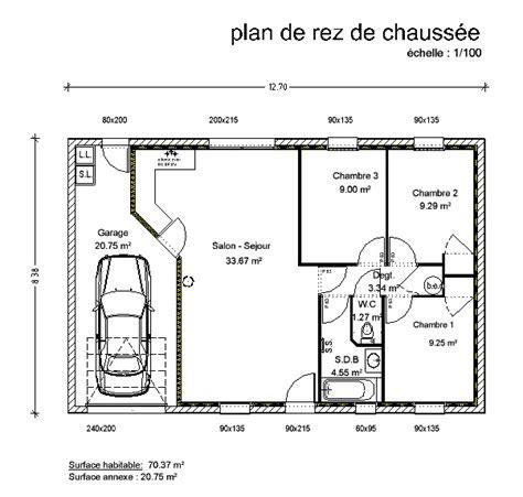 Plan Pavillon 100m2 by Plan Maison Plein Pied 100m2 Tc28 Montrealeast