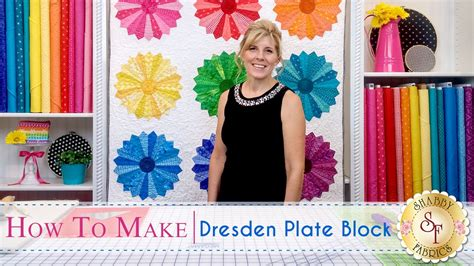how to make a dresden plate block a shabby fabrics