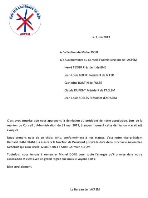 bureau d une association lettre de demission d une association new modele lettre de
