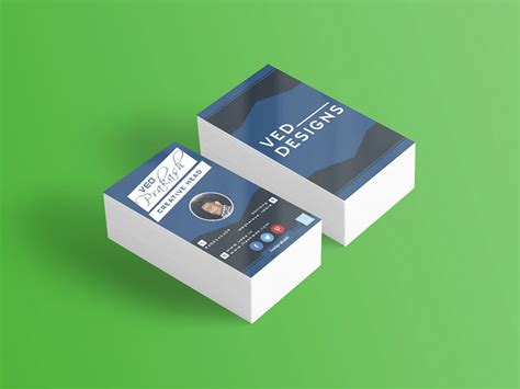 Flat Rounded Business Card Template Psd by Flat Business Card Mockup Freebie Photoshop