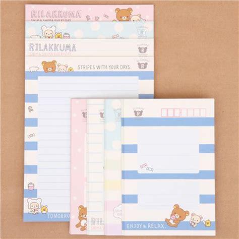 Rillakuma Japan Letter Set rilakkuma stripes shima shima everyday letter paper set