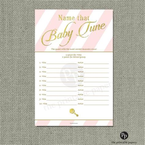 Songs For Baby Showers by Baby Shower Name That Tune Song List Baby Shower