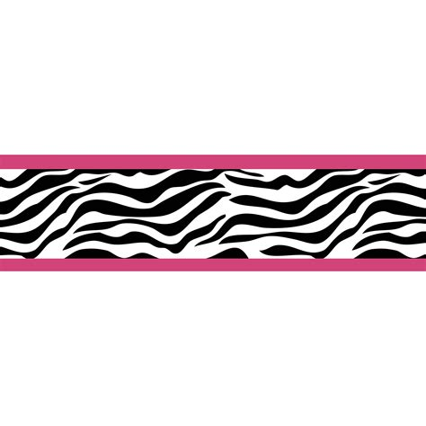 Sweet Jojo Designs Pink Funky Zebra Wall Border By Sweet