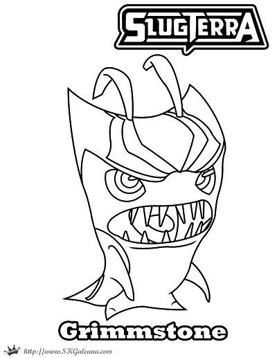 Halloween Coloring Page Featuring Grimmstone | SKGaleana