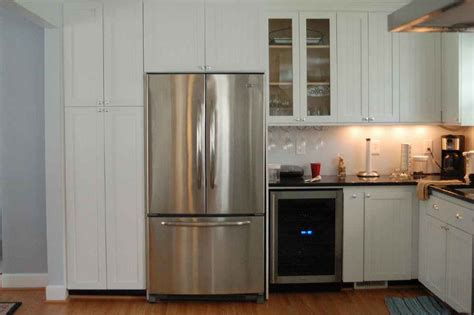 kitchen refrigerator cabinet refrigerator kitchen cabinets feel the home