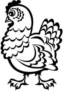 chicken printable az coloring pages