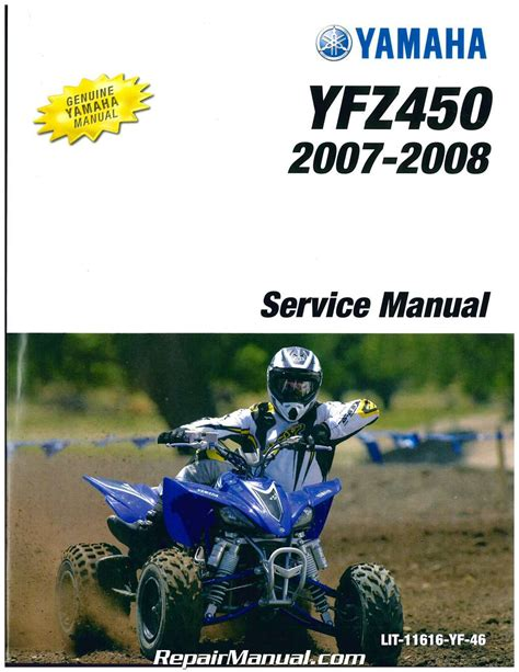 2004 2009 Yamaha Yfz450 Atv Service Manual