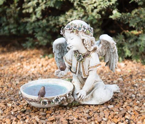 angel statue with solar light solar cherub garden statue garden ftempo