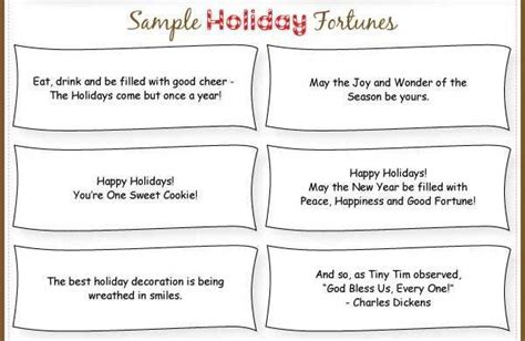 printable christmas fortune cookie sayings holly berry dipped fortune cookie