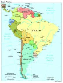 south america map with major cities www imgkid the