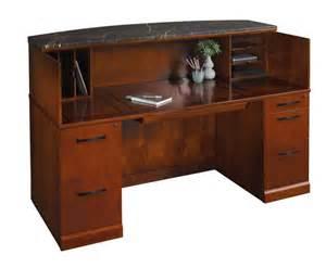 Wood Reception Desks New 4pcs All Wood Reception Office Desk Set Tf Sor R1 Ebay