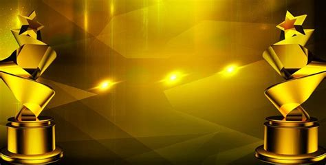 annual background golden trophies awards background