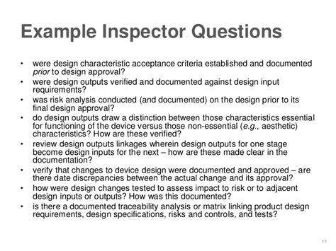 design criteria exles fda expectations for traceability in device diagnostic