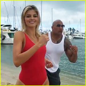 actress in baywatch the movie zac efron dwayne the rock johnson film baywatch